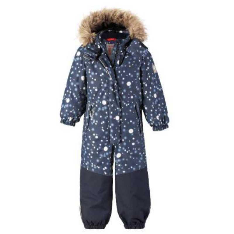 90489c85 Denne vakre blå vinterdressen for barn er nemlig dekket av store lyse  prikker – som alle er reflekser!